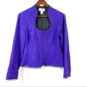Joseph Ribkoff Fitted Purple Blazer